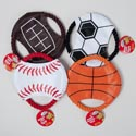 Dog Toy Sports Disc With Rope 7.5 Inch In Pdq #p09166