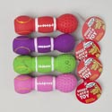 Dog Toy Latex Dumbell W/squeaker 5.5 Inch 4 Colors In Pdq #l14036