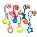 Dog Toy Rope Chews Assortment 6 Styles And Colors In Pdq #c11068, C11010
