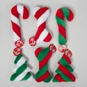 Dog Toy Christmas Plush W/squkr 3 Asst Shapes 2 Colors In Pdq #p30358