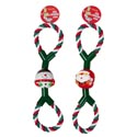 Dog Toy Christmas Rope Tug 14 Inch 2 Assorted In Pdq #c25341