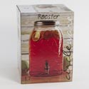 Glass Beverage Dispenser 1.7 Gal W/lid Rooster Litho Boxd *24.99*