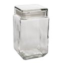 Glass Canister 62oz Visibility W/lid Clear 7.5in # 06792