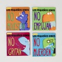 Board Book Spanish Little Dinos 4 Assorted