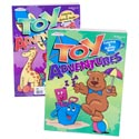Coloring Book Toy Adventures 96 Pg $3.95ppd 2ast 120pc Flr Disp Made In Usa