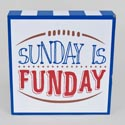 Block Sign 6x6 Sunday Is Funday Mdf (4.00) # 7102808
