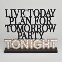 Tabletop Sign 10x8.25 Party(6.00 Tonight Standing Expression Mdf # 7103523