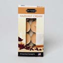 Candle Tealight 8pk Hazelnut Cream Boxed