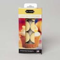 Candle Tealight 8pk Lemon Cupcake Boxed