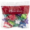 Bows Christmas 25 Peel N Stick Asst Colors Printed Polybag Made In Usa