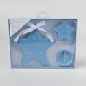 Baby Announcement Gift Set 3pc Star Boxed Blue *10.96* # Mbac-10736