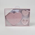 Baby Announcement Gift Set 3pc Heart Boxed Pink *10.96* # Mbac-10737