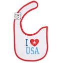 Baby Bib I Love Usa 12.5 X 8 Cotton (3.00)