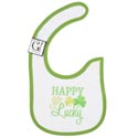Baby Bib Happy Go Lucky 12.5 X 8 Cotton (3.00)