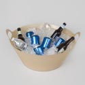 Party Tub Plastic Gold 8 Gallons W/handles *11.99* # 430003.19