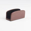 Business Card Holder Brown Bonded Leather *6.60* # Mbc-11546