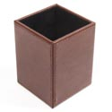 Pencil Cup Bonded Brown Leather *8.90* # Mpc-11546