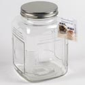 Canister Glass 71 Oz Clear Metal Lid Moondance *4.99*