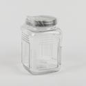 Canister Glass 52 Oz Clear Metal Lid Moondance *4.99*