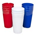 Tumblers 22 Oz 3ct Red, White, Blue In Pdq
