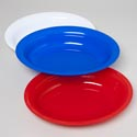 Platter Oval Serving 16.75x12.5 130 Oz 3 Colors In Pdq #11080 Red, White, Blue