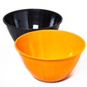 Bowl Serving 12in Dia Halloween Black And Orange In Pdq