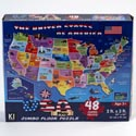 Puzzle 48pc Usa Map Floor Size 24in X 36in # Cm-8951
