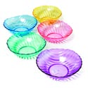 Serving Bowl 10 Inch Round Swirl Design 5 Pastel Colors In Pdq