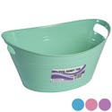 Basket Oval Tub W/double Handles 5.25 X 12.5 -4 Colors In Pdq #oval Handy