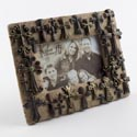 Photo Frame 8.5x7 W/crosses Poly Resin W/4x6 Opening (15.00)