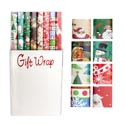 Gift Wrap Christmas 40sq Ft 1.5 In Core Asst Design $3.99 Prpcd Made In Usa