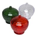 Candy Dish W/lid Xmas Cut Glass Look 5.5d X6h X3w  Ps Material