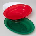 Serving Platter Oval 16.75x12.5 130 Oz 3 Colors In Pdq #11080 Red, White, Green