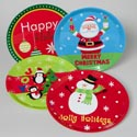 Tray Serving Christmas 13 Inch Round 4 Assorted Designs 169g #590486