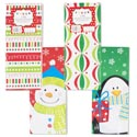 Gift Box 3pk Rectangular 4ast 4.9 X 11.8 X 3.5in Christmas Pts 310gsm/350 Bottom