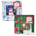 Gift Box 3pk Square Sm/med/lg Combo 2 Asst Christmas Prints Shrink W/label 310gsm/350 Btm