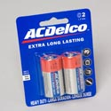 Batteries Ac Delco C 2pk Heavy Duty On Blister Card