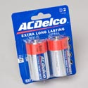 Batteries Ac Delco D 2pk Heavy Duty On Blister Card