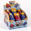 Candy Filled Trucks Cone Zone 3asst Pullback Action 12pc Pdq