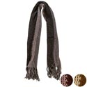 Scarf Open Weave Acrylic Knit 2 Tone 3 Assorted (8.50)