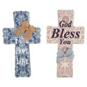 Cross Wall Hanging Blessings 2 Assorted Mdf *16.99*