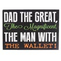 Wall Sign Dad The Great Mdf (4.75)