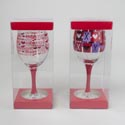 Wine Glass Valentine Pvc Boxed 12pc Pdq Assorted *9.99* See N2