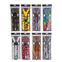 Suspenders 31in L 8asst Novelty Prints Hlwn Pb/insert Card
