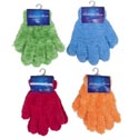 Glove Furry/chenille Kids 4ast Colors Each 7x4in 34g/pair Header W/hook