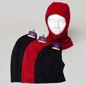 Balaclava Polar Fleece 6ast Adult & Youth Red Or Black Header Card W/hook