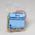 Rubber Bands 3oz Bag Asst Sizes And Colors Gov Stat Printed Polybag
