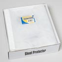 Sheet Protector 16ct 8.5x11 Clear In White Display Tray 30micron Thickness Stat Opp Bag
