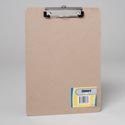 Clipboard 9x12 Chipboard W/flat Clip Shrink W/label Gov Stationary