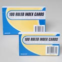Index Cards 100ct 2asst Sizes 4x6/3x5 Stnry Shrink/insert Card